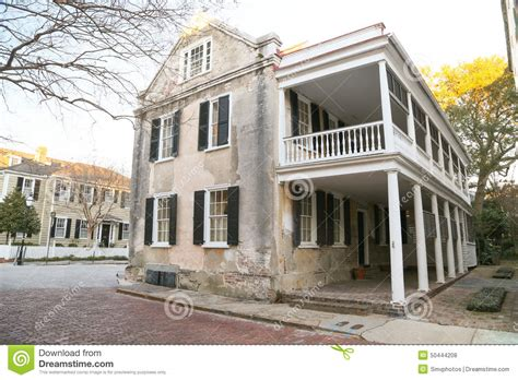 Charleston Home Builders by Historic Charleston Style Home Stock Photo Image 50444208