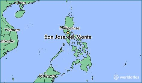 san jose sea level map where is san jose monte the philippines where is