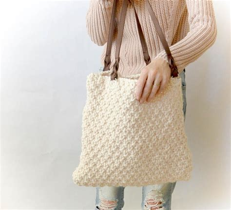 free knitting patterns for bags totes aspen mountain knit tote allfreeknitting