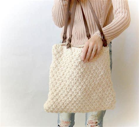knitting purses for beginners aspen mountain knit tote allfreeknitting