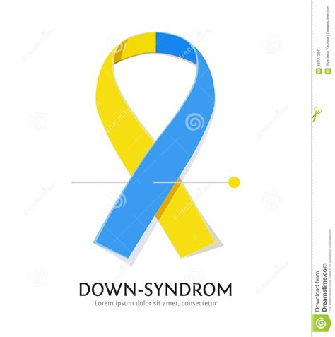 down syndrome awareness ribbon stock vector illustration