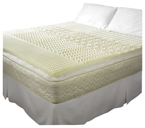 home design 5 zone memory foam mattress pad pure rest 5 zone memory foam topper full double