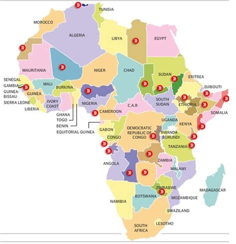 educational map snap africa the separatist map of africa geography education