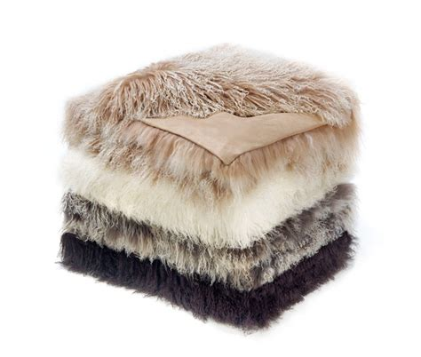 Tibetan Mongolian Lambskin Throw Fur Blanket in 4 Colors