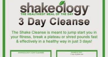 7 Day Detox Beachbody by Crafty Fit Shakeology 3 Day Cleanse