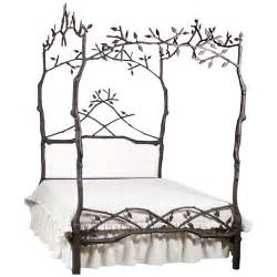 Forest Canopy Bed Enchanted Forest Canopy Bed With Upholstered Headboard And Luxury Kid Furnishings