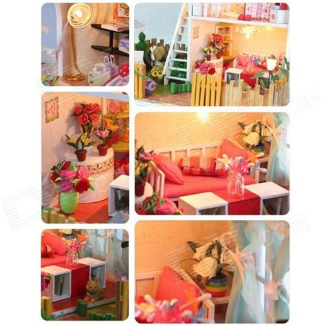 diy creative cute wooden bedroom model toy white pink diy creative cute wooden 2 floor house model toy white