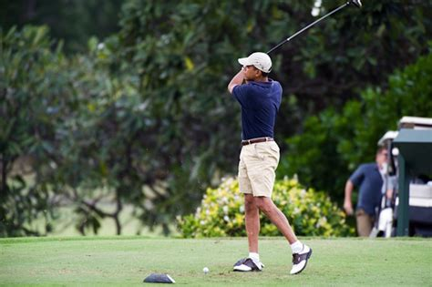 barack obama golf swing nine holes with the golfing presidents profiles the