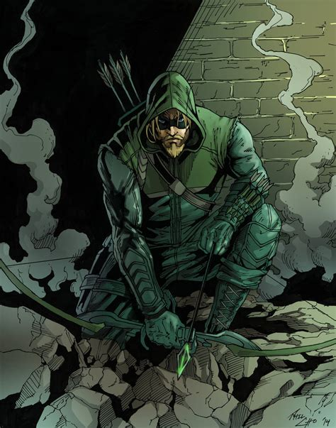 Dc Comics Green Arrow 2 the green arrow by phil cho on deviantart
