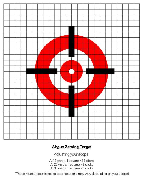 printable zero targets air gun info airgun triggers