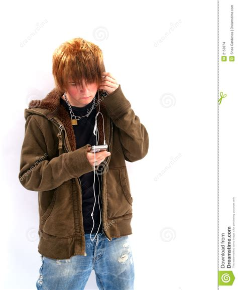 Boy Mp3 boy with mp3 player stock images image 2158874