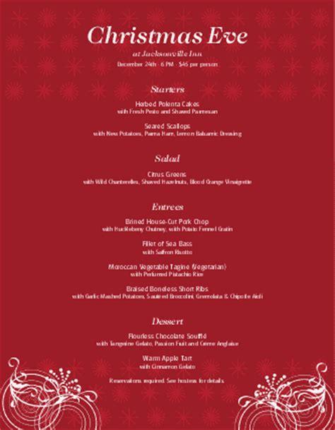 Invitation Letter For Carol Restaurant Menu Menus