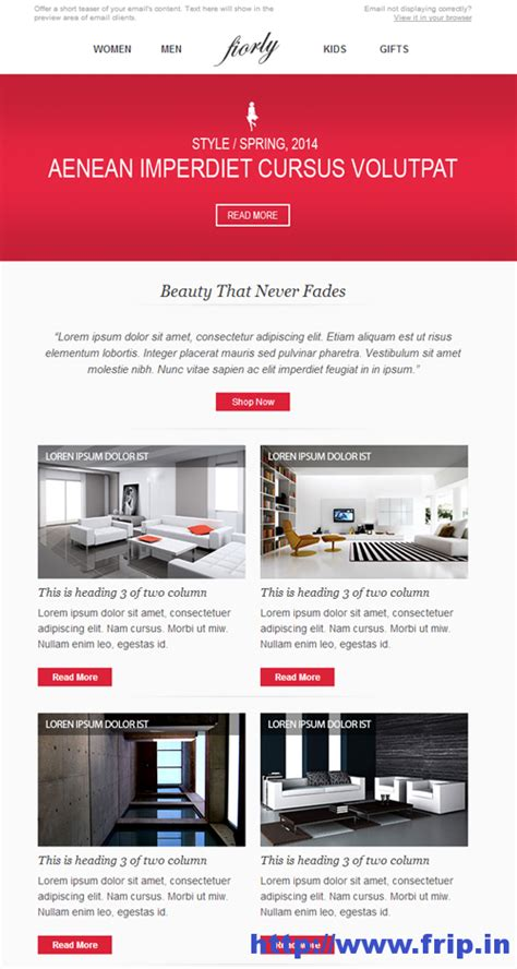 ecommerce email template best 40 shopping ecommerce email templates frip in