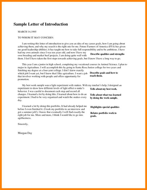 how to write introduction letter 8 sle introduction for portfolio introduction letter