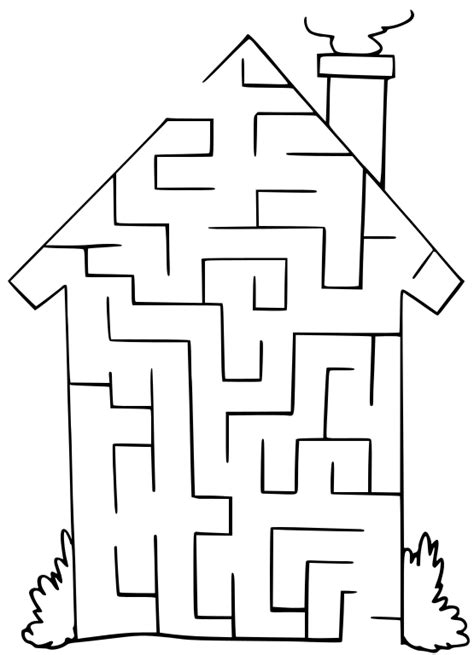 Maze House Recreation Games Maze Maze House Png Html