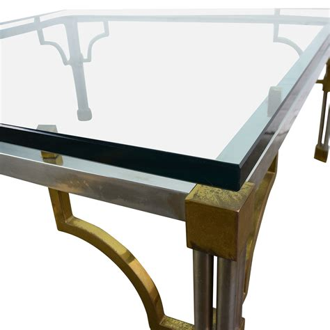 vintage glass coffee table 90 vintage brass and glass coffee table tables
