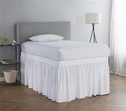 dorm bed skirt dorm sized bed skirt panel with ties white
