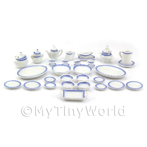 10 diameter ceramic pot blue and white dolls house miniature ceramics dolls house miniature 40
