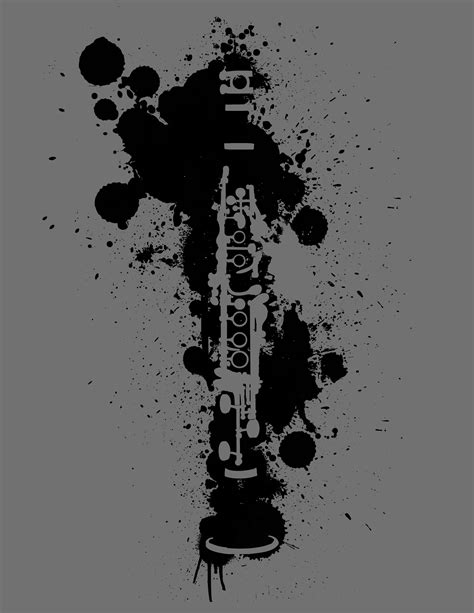 clarinet tattoo clarinet paint splatter digital forever a band