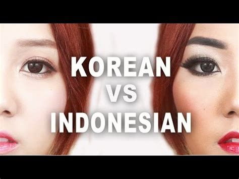 tutorial dandan cosplay korean vs indonesian makeup makeup tutorial youtube