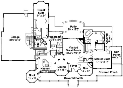 rambling american country style house plan 72496da 1st