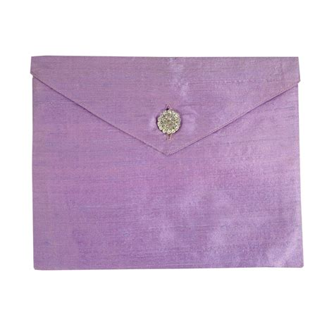 Wedding Card Envelope by Lavender Dupioni Silk Invitation Envelope The Luxury