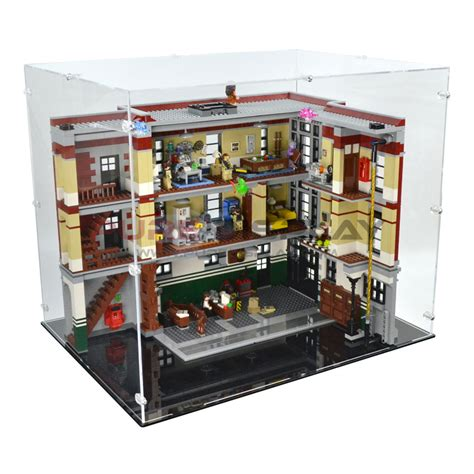 Display Box Lego White lego 75827 ghostbusters firehouse hq display
