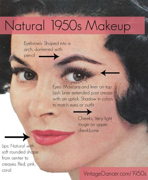 tutorial makeup vintage authentic natural 1950s makeup history and tutorial