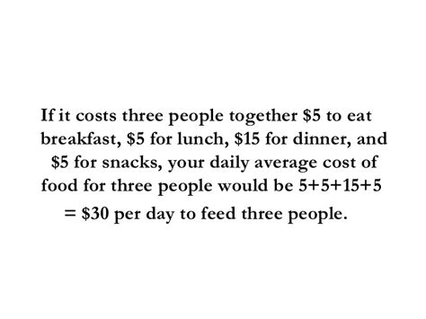 monthly cost of food average cost of food per month