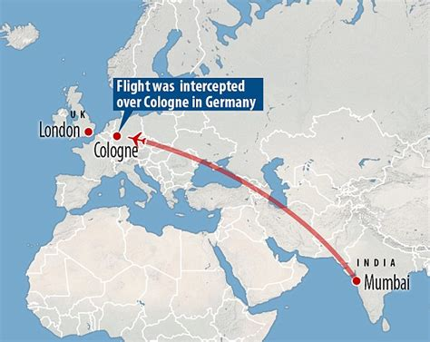 who flies to nuremberg from uk bound flight is intercepted by two german fighters