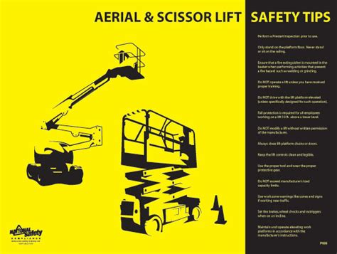 Scissor Lift Certification Card Template by Aerial Scissor Lift Safety Poster Osha Safety Manual
