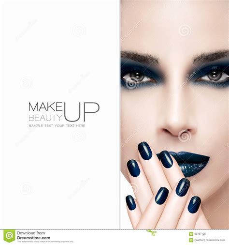 Modele De Nail by Gorgeous Fashion Model Nail And Makeup Concept