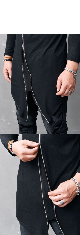 Sweater Hoodie Zipper Urbex Import Quality Yomerch Must diagonal unbalance edgy zip mens length black crew tshirt guylook