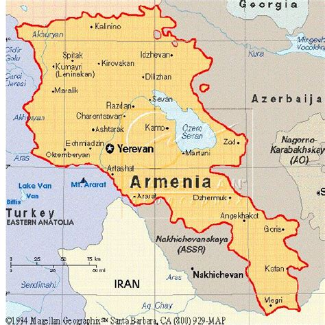 map of armenia map of armenia located at the crossroads of western asia