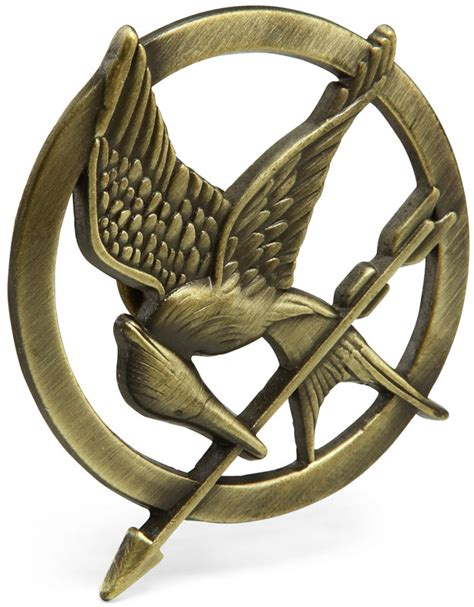 How To Make A Mockingjay Pin Out Of Paper - the hunger mockingjay pin thinkgeek