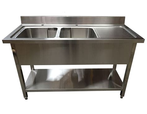 stainless steel deep bowl service sinks commercial double bowl befon for