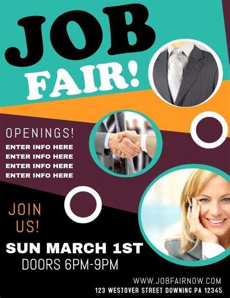 job fair flyer template  beautiful job fair template