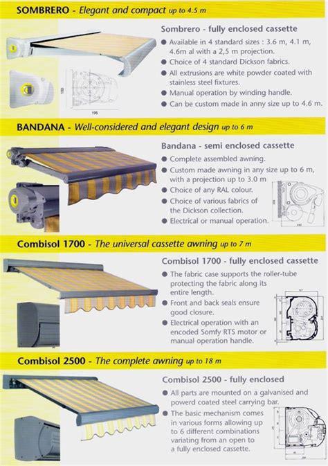 types of awnings awning awning types