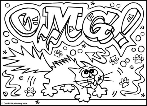 graffiti coloring pages omg another graffiti coloring book of room signs learn