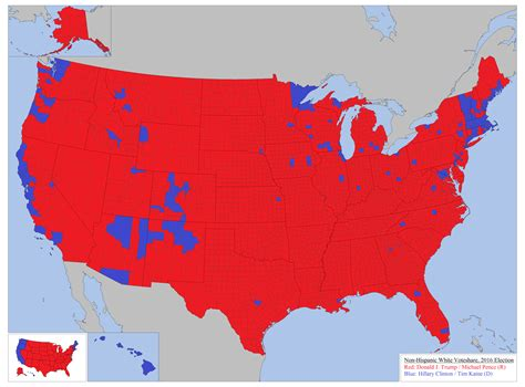 usa election map white vote in the 2016 u s election maps