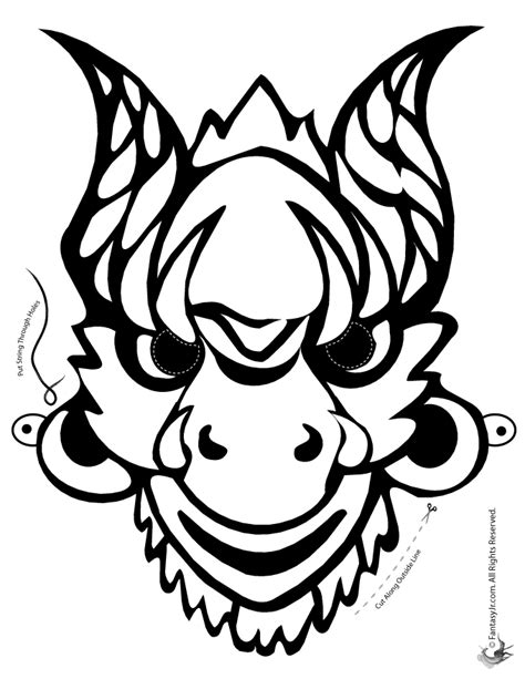 new year mask template mask coloring page woo jr activities