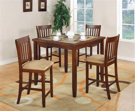Dining Room Table Sets Montreal 5 Pc Edmonton Square Faux Marble Bar Height Dining Table
