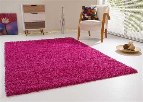 shaggy rug summer xl for living room dinner room - Teppich Pink