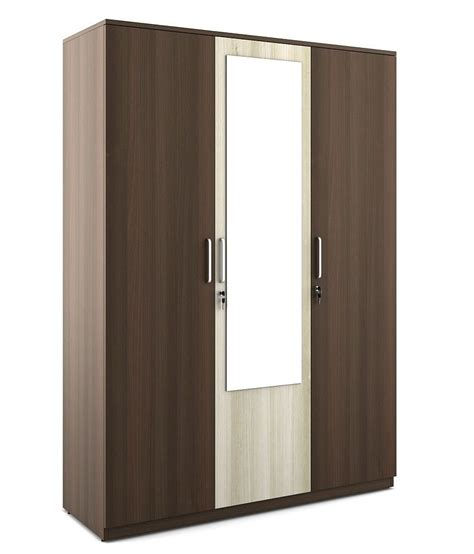 5 Door Wardrobe India by Spacewood Crescent 3 Door Wardrobe Buy At Best