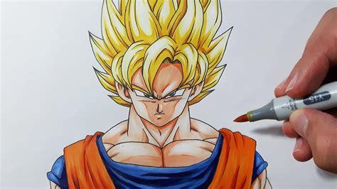 Drawing Goku by How To Draw Goku Ssj Drawing Of Sketch