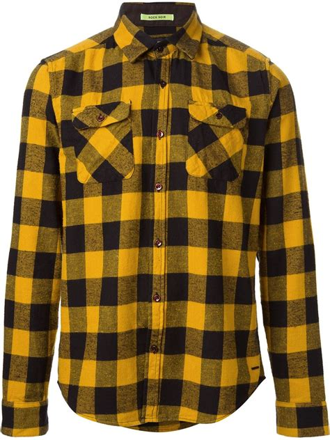 checkered shirt pattern name scotch soda plaid pattern shirt in multicolor for men