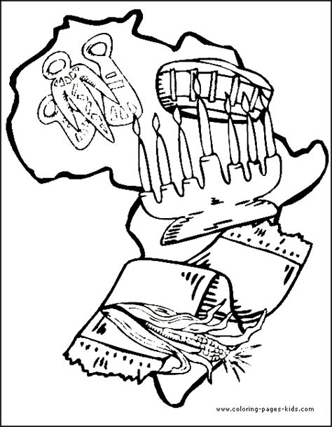 kwanzaa coloring book pages kwanzaa color page for kids kwanzaa