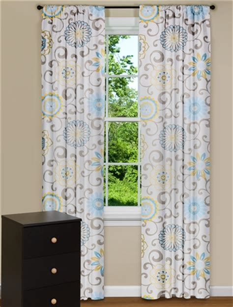 curtains the play modern floral curtains pom pom play spa blue