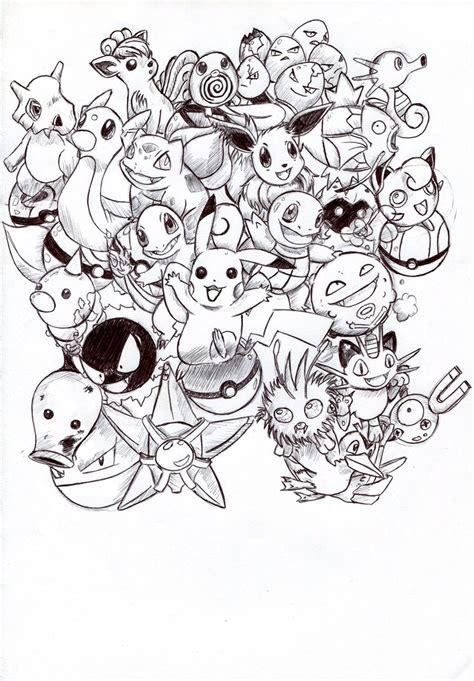 pokemon coloring pages starter pokemon kanto pokemon explosion b w by troisnyxetienne on deviantart