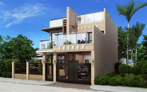 how to design house ricardo two storey modern with firewall phd ts 2016023